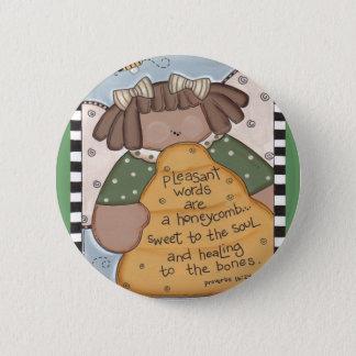 Bee Hive Wisdom 6 Cm Round Badge