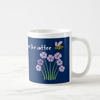 Bee Honeybee Bumblebee Flowers - Coffee Mug
