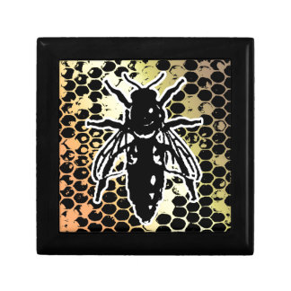 Bee Honeycomb Geometrical Small Square Gift Box