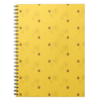 Bee Honeycomb Pattern Notebook