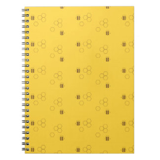 Bee Honeycomb Pattern Notebooks