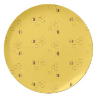 Bee Honeycomb Pattern Plate