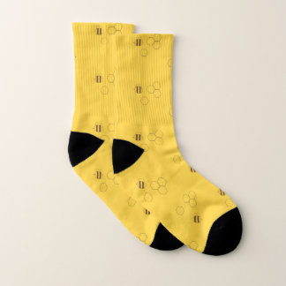 Bee Honeycomb Pattern Socks