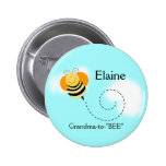 BEE HOP BUMBLE BEE NAME TAG Personalised Button