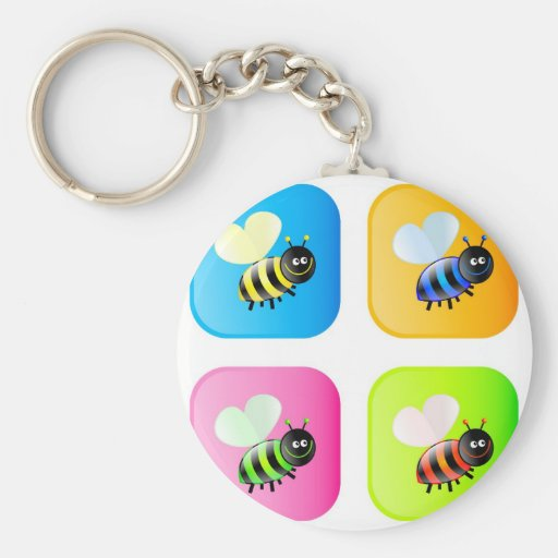 Bee Icons Keychains