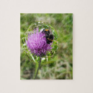 Bee in bubble jigsaw puzzle