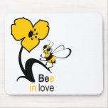 Bee in love mouse pads