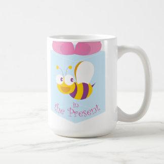 Bee in the Present Basic White Mug
