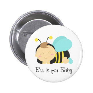 Bee is for Baby, Bumble Bee for Mommy 6 Cm Round Badge