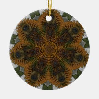 Bee Kaliedoscope Round Ceramic Decoration