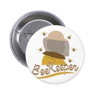 Bee Keeper 6 Cm Round Badge