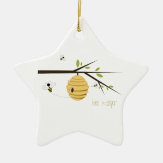Bee Keeper Ceramic Ornament