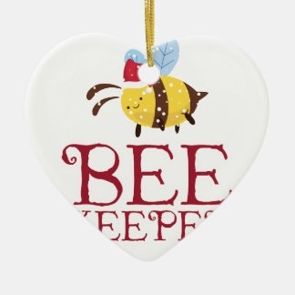 Bee Keeper Christmas Edition Ceramic Ornament