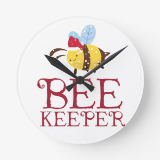 Bee Keeper Christmas Edition Round Clock