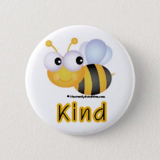 Bee Kind 6 Cm Round Badge