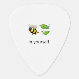 Bee Leaf in Yourself Pick Plectrum