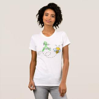 Bee-Lieve Honey Bee Cute  Lyme Shirt