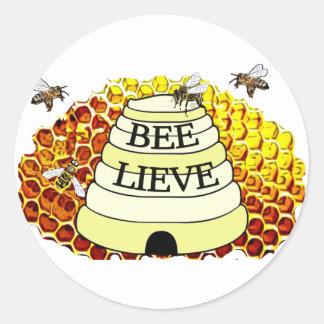 Bee-Lieve Honey Bees Sticker