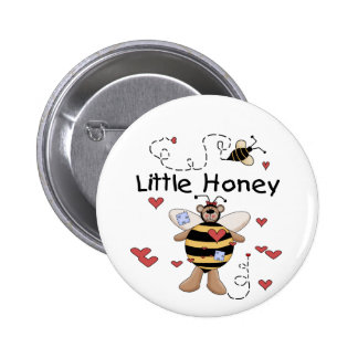 Bee Little Honey t-shirts and Gifts Pinback Buttons