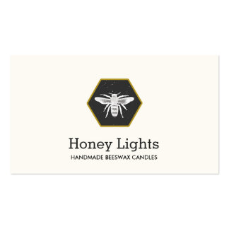 Bee Logo Beeswax Candlemaker Nature Pack Of Standard Business Cards