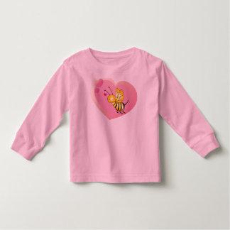 Bee Love Shirt For Little Girls