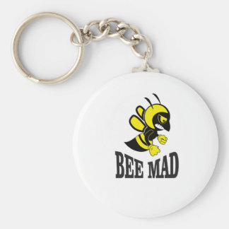 bee mad bee basic round button key ring