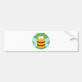 Bee Mascot Cartoon Character Bumper Sticker