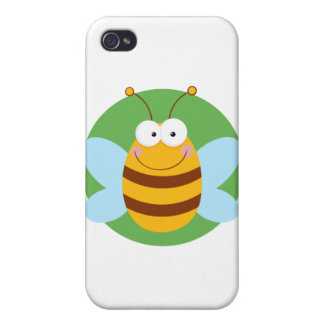 Bee Mascot Cartoon Character Cases For iPhone 4