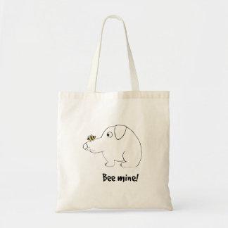 Bee mine! budget tote bag