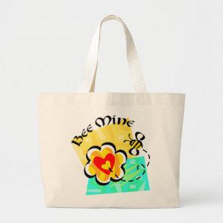 Bee Mine Bumblebee Heart Flower Tote Bag