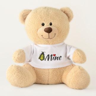 Bee Mine Cute Honeybee with Red Heart Valentine Teddy Bear