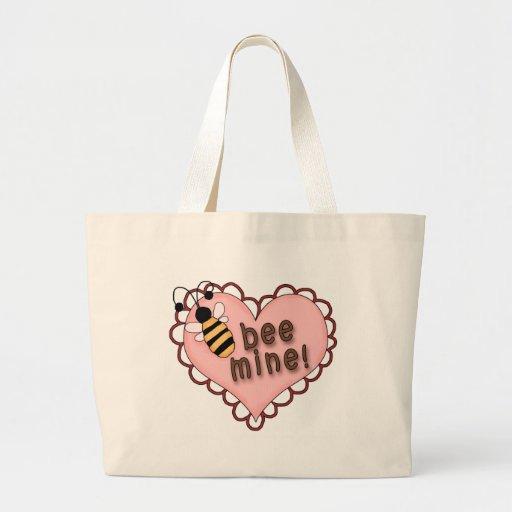 Bee Mine Heart Canvas Bag