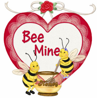 Bee Mine Honey Photo Sculpture Magnet