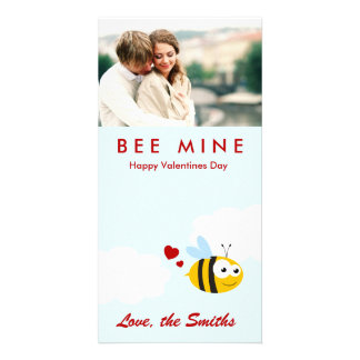 Bee Mine Personalized Photo Card