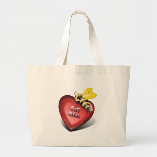 bee mine too tote bags