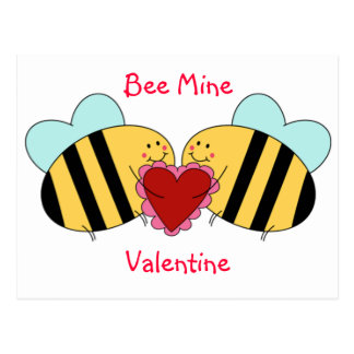 Bee Mine Valentine Postcard