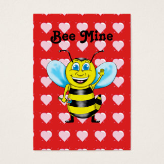 Bee Mine Valentine's Greetings Business Card