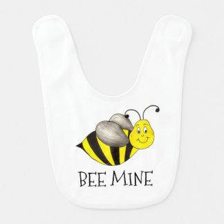 BEE MINE Yellow Bumblebee Valentine's Day Bib