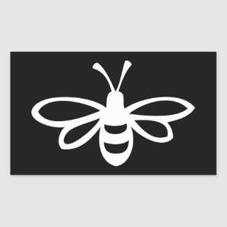 Bee (Monochrome) Rectangular Sticker
