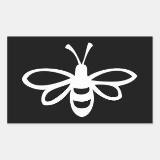 Bee Monochrome Rectangle Sticker