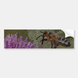 Bee Mosaic Bumper Sticker