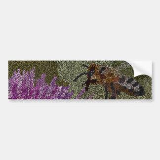 Bee Mosaic Bumper Sticker