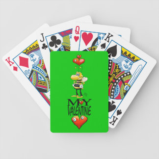 Bee my Valentine, playing cards. Bicycle Playing Cards