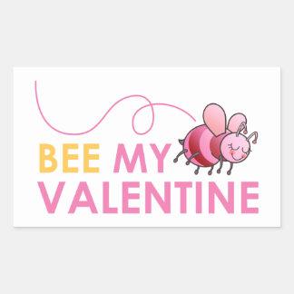 Bee My Valentine Rectangular Sticker