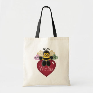 Bee My Valentine Tshirts and Gifts Budget Tote Bag