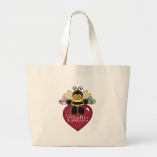Bee My Valentine Tshirts and Gifts Jumbo Tote Bag