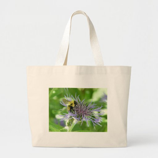 bee,on a batchelor button canvas bags