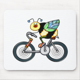 Bee on a Bike Mouse Pad