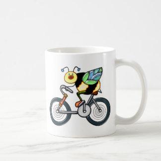 Bee on a Bike Classic White Coffee Mug