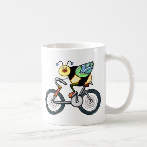 Bee on a Bike Coffee Mugs